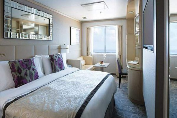 Crystal Symphony Deluxe stateroom with Picture Window 2