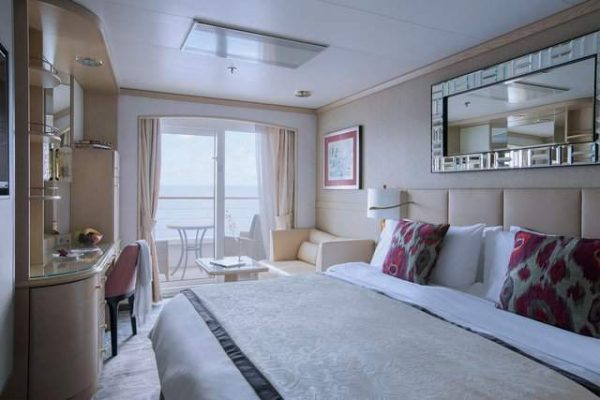 Crystal Symphony Deluxe stateroom with Verandah