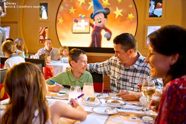 Disney Cruise Animators Palate Restaurant Family