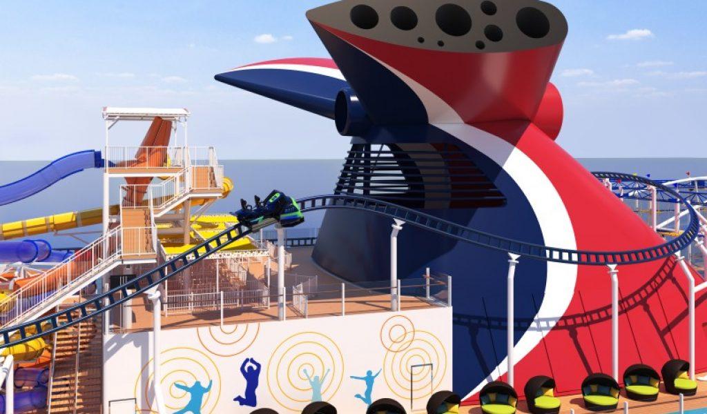 Mardi Gras Bolt rollercoaster renderings