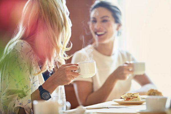 Women Friends Having High Tea