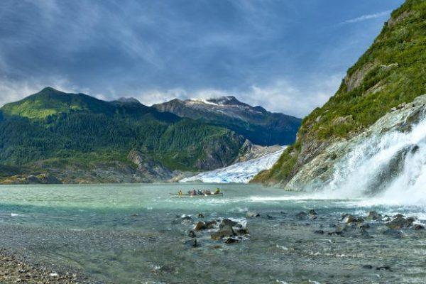 ncl_Bliss_AK_land_nugget falls_canoe_panorama